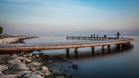 Ξύλινα υλικά σκαλωσιάς Seka ηλιοβασιλέματος Στοκ εικόνα με δικαίωμα ελεύθερης χρήσης