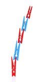 Ξύλινα clothespins Στοκ Φωτογραφία