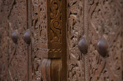 Ξύλινες γλυπτικές πορτών Στοκ Εικόνες