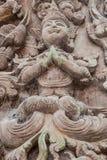 Ξύλινες γλυπτικές του Βούδα Στοκ φωτογραφία με δικαίωμα ελεύθερης χρήσης