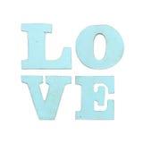 Ξύλινες επιστολές που διαμορφώνουν την αγάπη λέξης που απομονώνεται στο άσπρο υπόβαθρο Στοκ Εικόνες