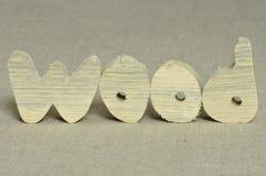 Ξύλινες επιστολές. Στοκ Εικόνες