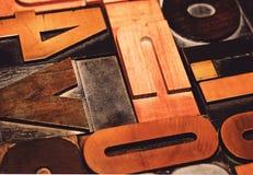 Ξύλινες επιστολές Στοκ Εικόνες