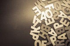 Ξύλινες επιστολές Στοκ εικόνες με δικαίωμα ελεύθερης χρήσης