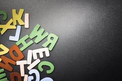 Ξύλινες επιστολές Στοκ εικόνα με δικαίωμα ελεύθερης χρήσης