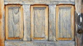 Ξύλινες ηλικίας πόρτες λουτρών Στοκ Εικόνα
