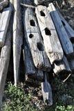 Ξύλινες θέσεις φρακτών Στοκ φωτογραφία με δικαίωμα ελεύθερης χρήσης