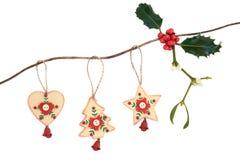 Ξύλινες διακοσμήσεις Χριστουγέννων στοκ φωτογραφίες