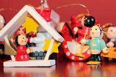 Ξύλινες διακοσμήσεις Χριστουγέννων Στοκ εικόνα με δικαίωμα ελεύθερης χρήσης