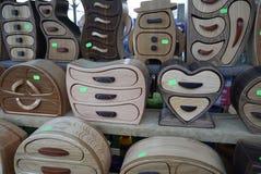 Ξύλινες κασετίνες Στοκ φωτογραφία με δικαίωμα ελεύθερης χρήσης