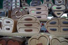 Ξύλινες κασετίνες Στοκ εικόνα με δικαίωμα ελεύθερης χρήσης