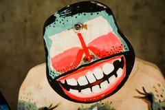 Ξύλινες κούκλες χρωμάτων κινούμενων σχεδίων Στοκ Εικόνες