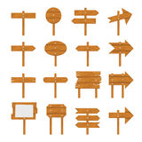Ξύλινες πινακίδες, ξύλινο σημάδι βελών Στοκ εικόνα με δικαίωμα ελεύθερης χρήσης