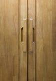 Ξύλινη λαβή πορτών Στοκ φωτογραφία με δικαίωμα ελεύθερης χρήσης