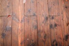 Ξύλινη ανασκόπηση σύστασης σανίδων καφετιά Στοκ Φωτογραφίες