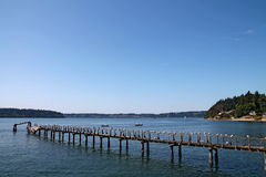 Ξύλινη αποβάθρα νησιών Vashon Στοκ εικόνα με δικαίωμα ελεύθερης χρήσης