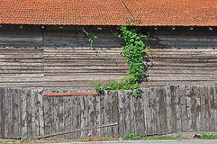 Ξύλινη αποθήκη εμπορευμάτων Στοκ Εικόνες