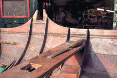 Ξύλινη αποκατάσταση βαρκών Εργαστήριο ξυλουργικής Shipwright Στοκ φωτογραφία με δικαίωμα ελεύθερης χρήσης