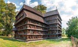 Ξύλινη αρθρωτική εκκλησία σε Hronsek Στοκ φωτογραφία με δικαίωμα ελεύθερης χρήσης