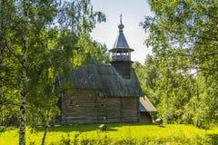 Ξύλινη αρχιτεκτονική, εκκλησία φιλεύσπλαχνο Savior Στοκ Εικόνα