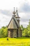Ξύλινη αρχιτεκτονική, εκκλησία φιλεύσπλαχνο Savior Στοκ Φωτογραφία