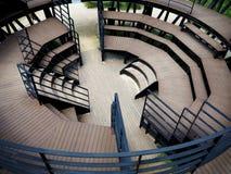 Ξύλινη αρχιτεκτονική εξεδρών επισήμων Στοκ Φωτογραφίες