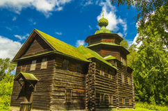 Ξύλινη αρχιτεκτονική, η εκκλησία του Elijah ο προφήτης Στοκ Φωτογραφία