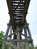 Ξύλινη αυστραλιανή γέφυρα ραγών Στοκ εικόνα με δικαίωμα ελεύθερης χρήσης