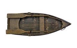 Ξύλινη βάρκα κουπιών Στοκ Φωτογραφίες
