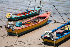 Ξύλινη βάρκα τρία Στοκ εικόνες με δικαίωμα ελεύθερης χρήσης