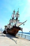 Ξύλινη βάρκα, Lukavac Στοκ Εικόνες