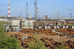 Ξύλινη βιομηχανία Στοκ εικόνα με δικαίωμα ελεύθερης χρήσης