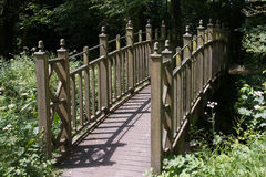 Ξύλινη γέφυρα για πεζούς Στοκ Εικόνα