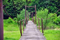 Ξύλινη γέφυρα για πεζούς Στοκ Φωτογραφία
