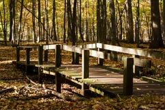 Ξύλινη γέφυρα για πεζούς στοκ εικόνες με δικαίωμα ελεύθερης χρήσης