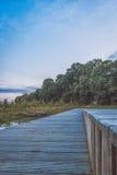 Ξύλινη γέφυρα για πεζούς Στοκ Εικόνες