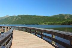 Ξύλινη γέφυρα λιμνών Coldwater στοκ εικόνες