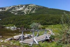 ξύλινη γέφυρα στο βουνό Pirin Στοκ φωτογραφία με δικαίωμα ελεύθερης χρήσης