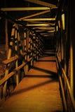 Ξύλινη γέφυρα τη νύχτα Στοκ Φωτογραφία