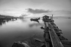 Ξύλινη γέφυρα ψαράδων της Μαλαισίας Στοκ φωτογραφία με δικαίωμα ελεύθερης χρήσης