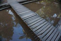 Ξύλινη γέφυρα Στοκ Φωτογραφία