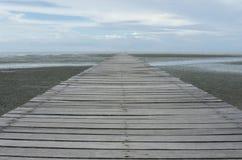 Ξύλινη γέφυρα Στοκ Φωτογραφίες