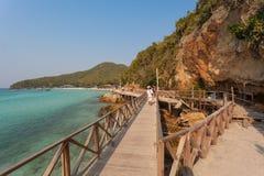 Ξύλινη γέφυρα, koh τοπικό LAN, Ταϊλάνδη Στοκ φωτογραφία με δικαίωμα ελεύθερης χρήσης
