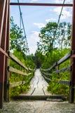 Ξύλινη για τους πεζούς γέφυρα Στοκ Φωτογραφία