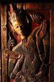 Ξύλινη γλυπτική, βόρειο ύφος της Ταϊλάνδης Στοκ Εικόνες
