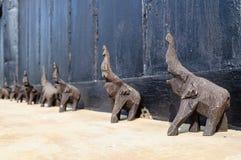 Ξύλινη γλυπτική ελεφάντων Στοκ φωτογραφίες με δικαίωμα ελεύθερης χρήσης