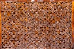 Ξύλινη γλυπτική του ισλαμικού σχεδίου γεωμετρίας - Μαρόκο Στοκ Φωτογραφίες