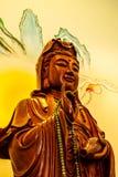 Ξύλινη γλυπτική Guan yin Στοκ Φωτογραφία