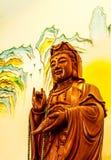 Ξύλινη γλυπτική Guan yin Στοκ Φωτογραφίες