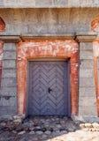 Ξύλινη είσοδος πορτών Στοκ φωτογραφίες με δικαίωμα ελεύθερης χρήσης